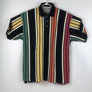 VTG 90's Eddie Bauer Striped Polo T-Shirt